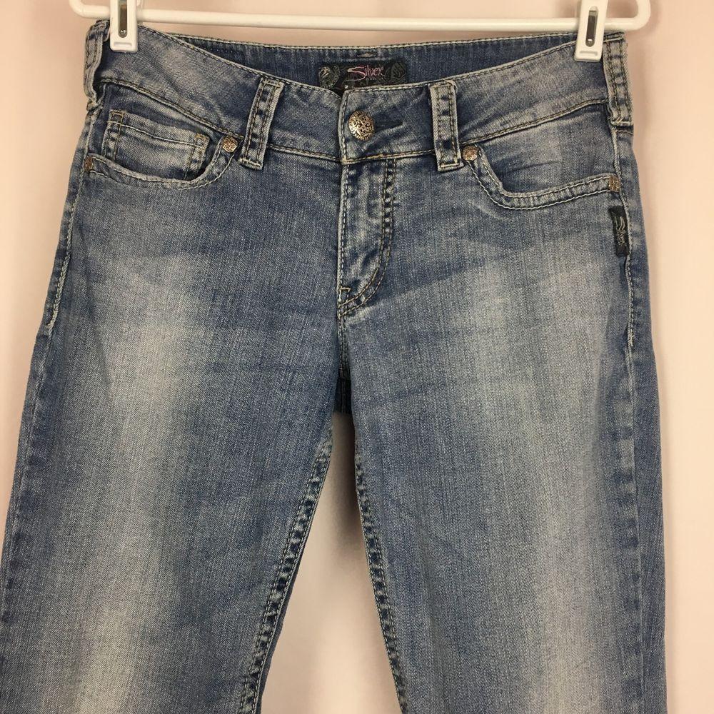 811229437d3 Silver Jeans Co SUKI Flare Leg Jeans 29X30 Shortened Light Wash Women's  Stretch #SilverJeans