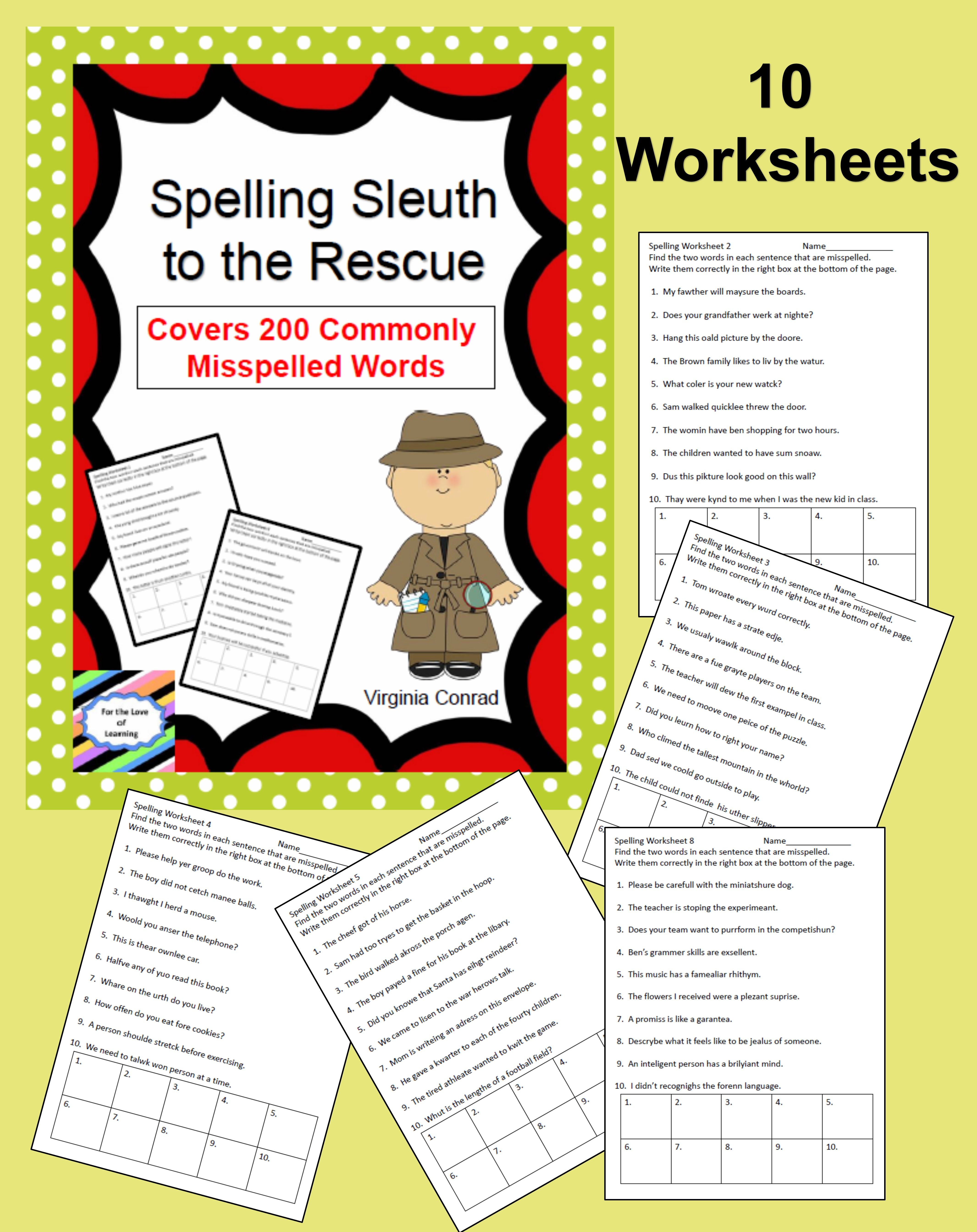Spelling Focus On 200 Commonly Misspelled Words With