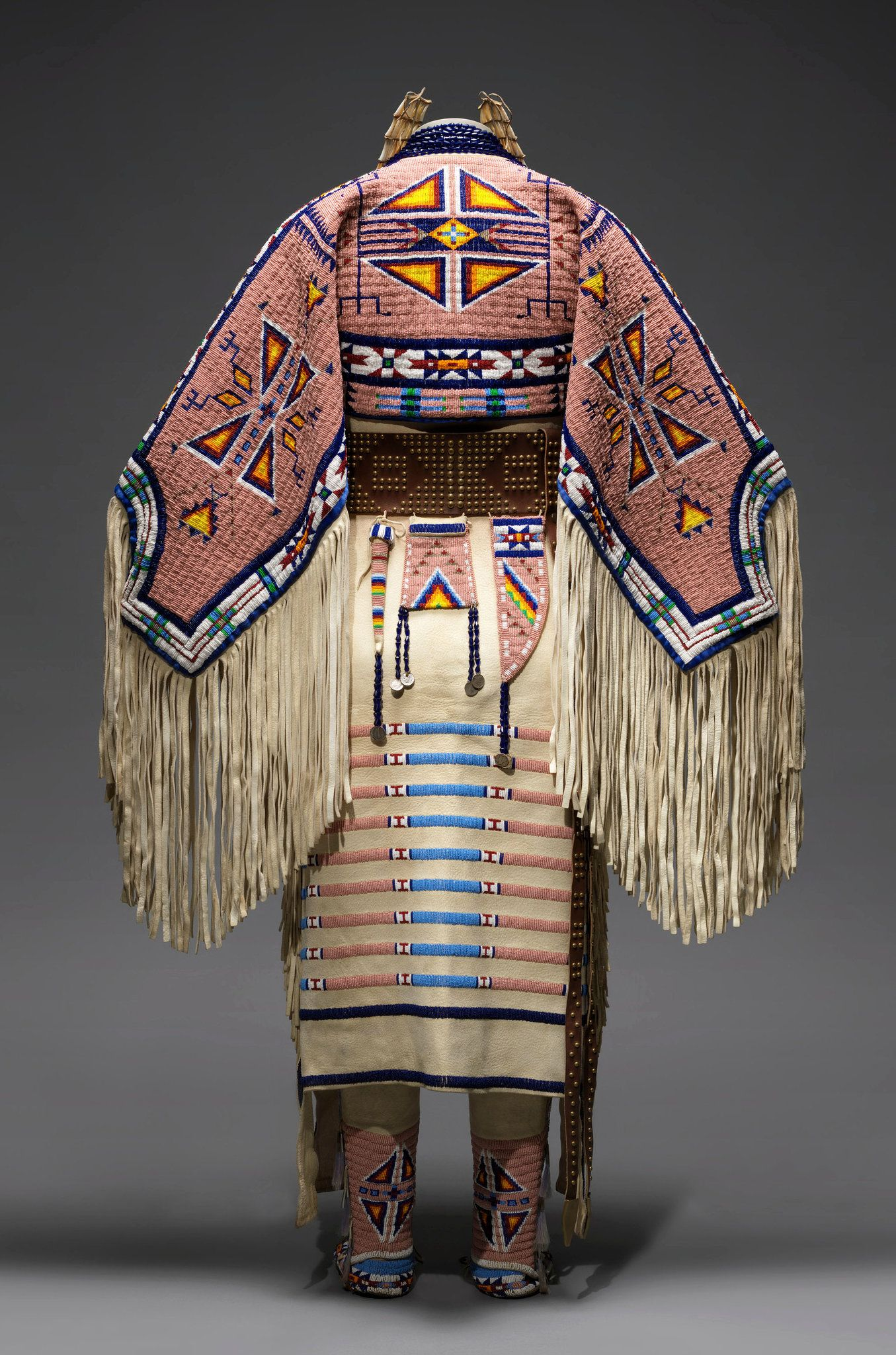 "*A piece by Jodi Gillette from ""The Plains Indians: Artists of the Earth and Sky"" at the Metropolitan Museum*"