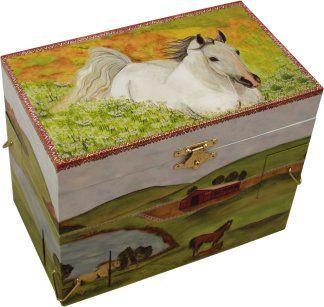 Misty Hideaway Horse Musical Jewellery Box Beautiful Horsey
