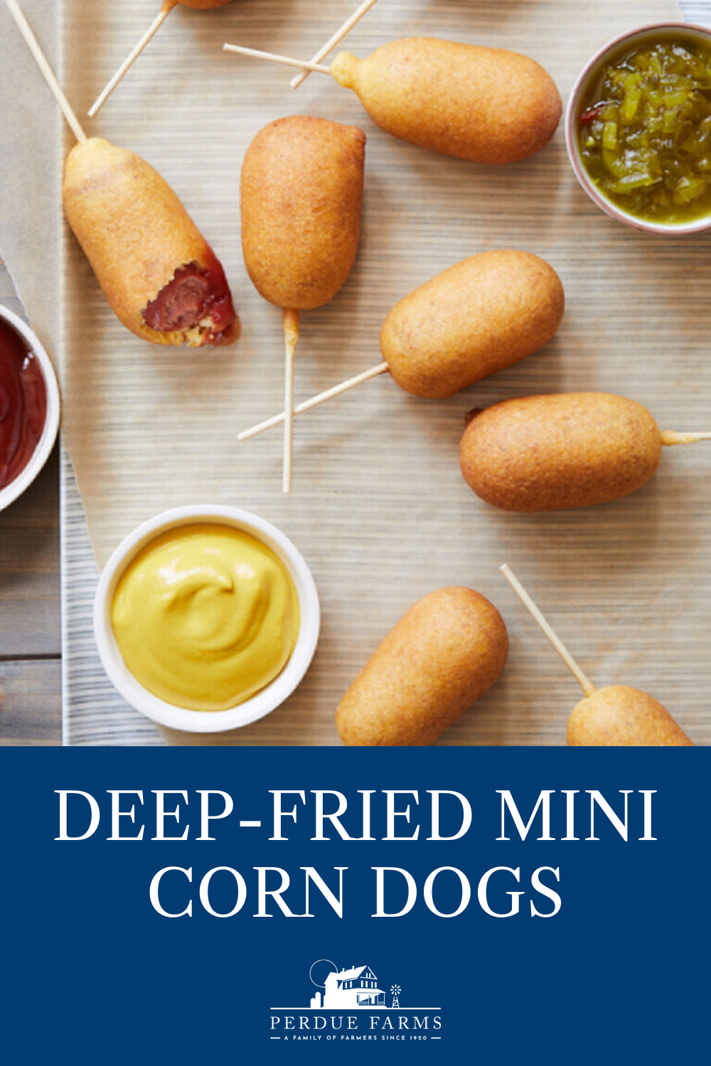 These deepfried mini corn dogs are an allAmerican