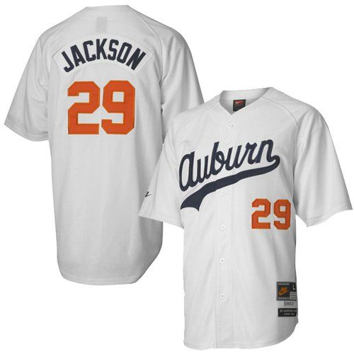 on sale c16f9 f07a2 Nike Auburn Tigers #29 Bo Jackson White Tradition Defined ...