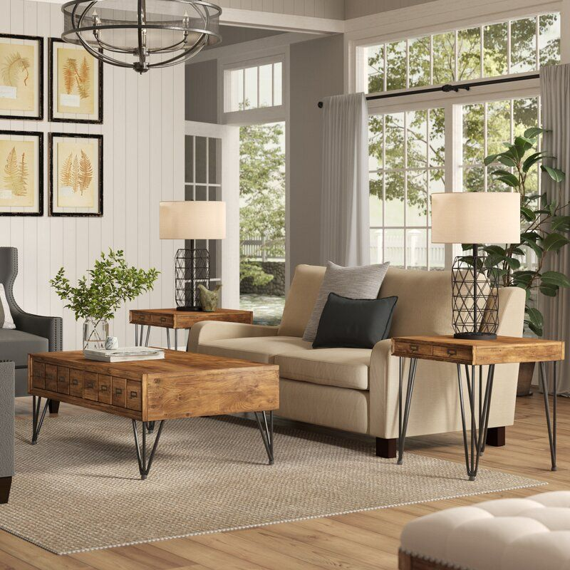 Best Bayle 3 Piece Coffee Table Set With Images 3 Piece 400 x 300