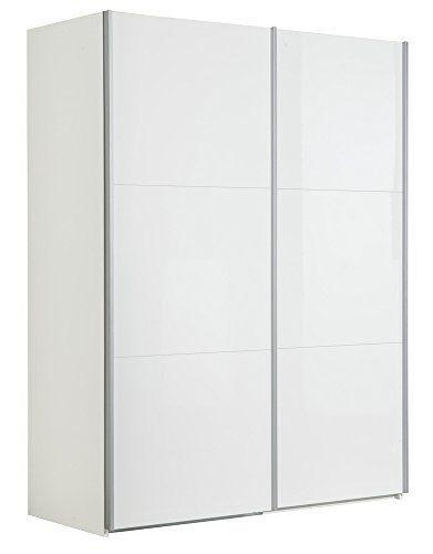 composad - armadio due ante scorrevoli con frontali bianco lucido