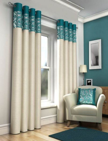 Teal Curtains Okay, If I Get Someone That Sews, Then Here Is An Option ·  Reading RoomTeal Bedroom CurtainsPatio Door CurtainsLounge ...