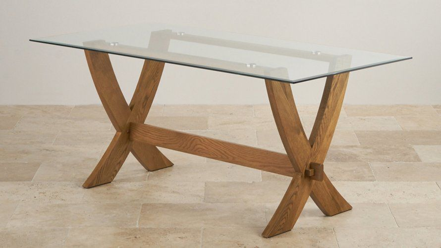 Glass Top Dining Tables Oak Furniture Land Glass Top Dining