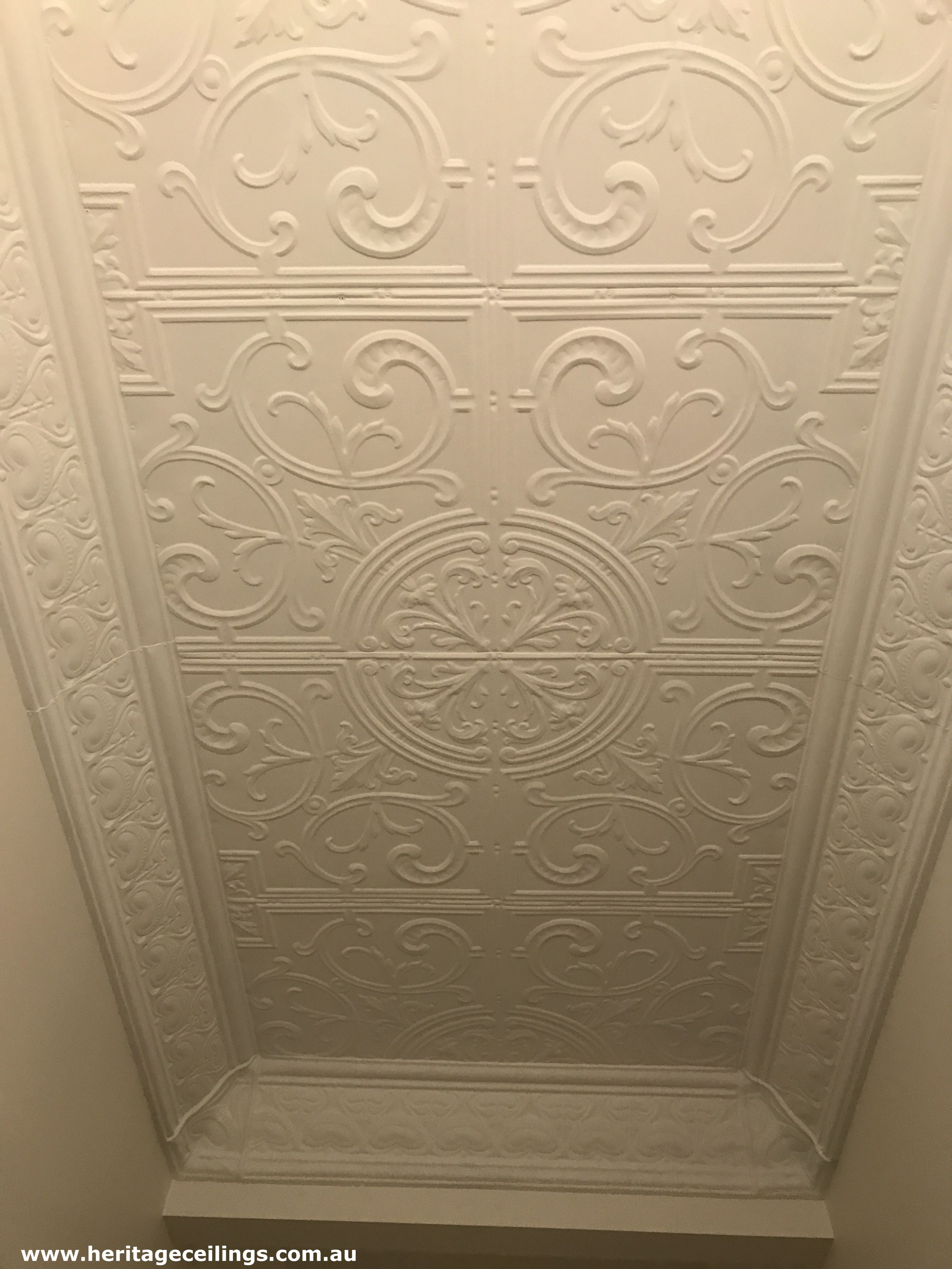 This Beautiful Ceiling Is Created From Pressed Metal Panels The