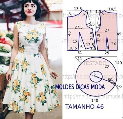Красивые и простые выкройки платьев