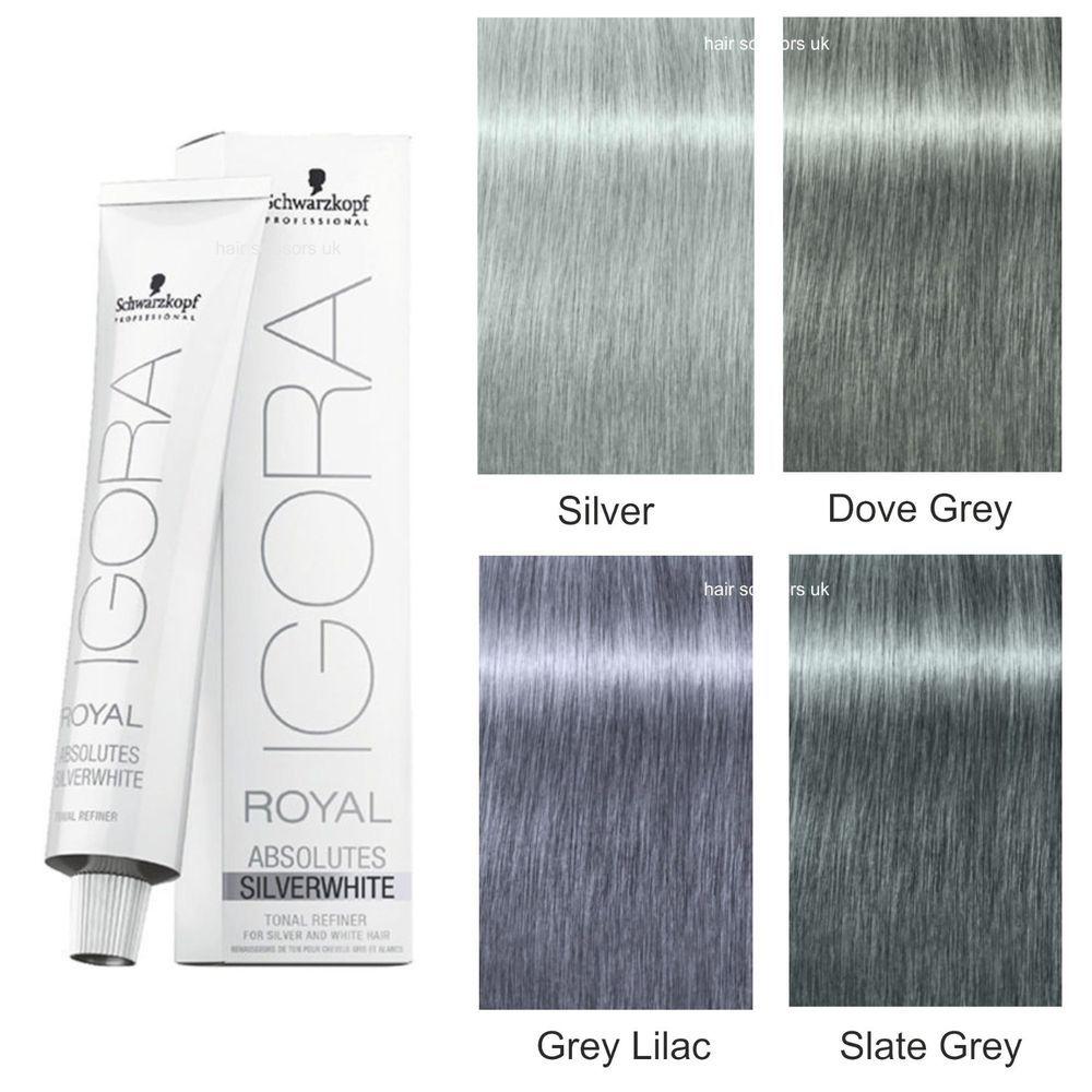 Igora Royal Grey Lilac Dove Grey Silver Slate Grey Scwarzkopf