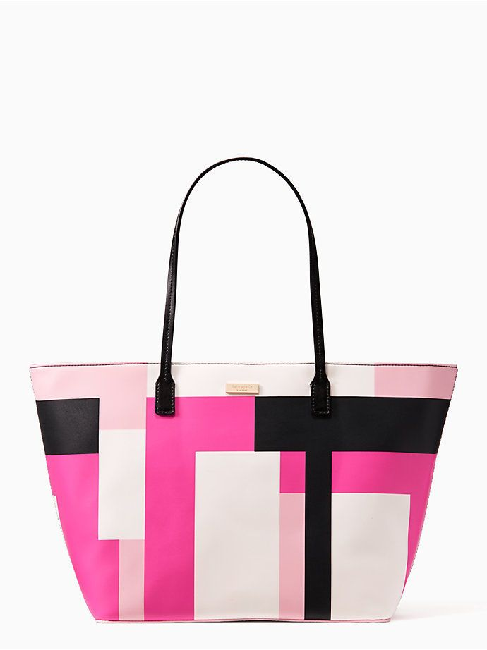 e45835948be3 Kate Spade Shore Street Margareta Tote Shoulder Bag Colorblock Party Pink  Black  katespade  TotesShoppers
