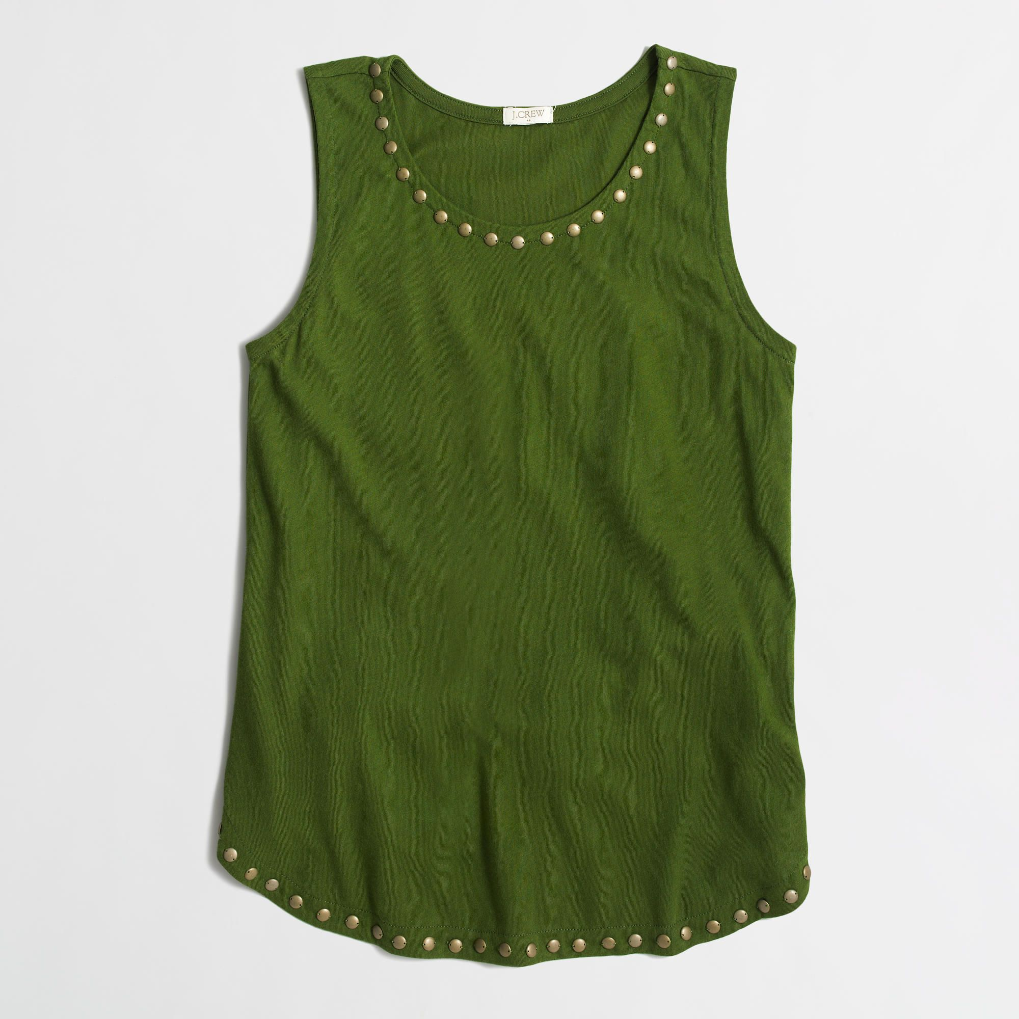 Factory embellished airy cotton tank top : Outfit Ideas | J.Crew Factory