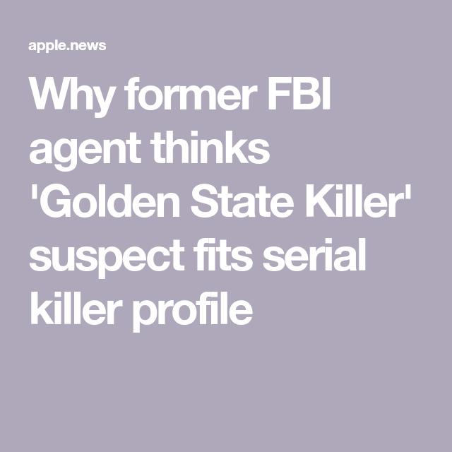 fbi profile of serial killer