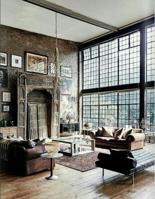 Idées De Conception De Salon De Style Industriel