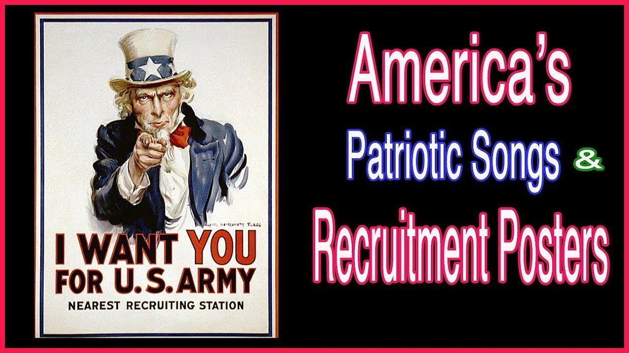 American Patriotic Songs Vintage Military Recruitment