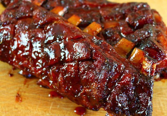 Smoked Lamb Ribs With Rosemary And Fig Barbecue Sauce Recipe Finecooking Recipe Smoked Lamb Lamb Ribs Rib Recipes