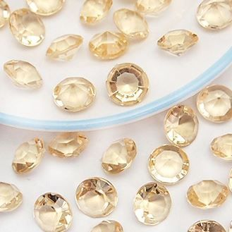 8mm Table Scatters - Gold Shadow Diamond Confetti (1000 pcs)