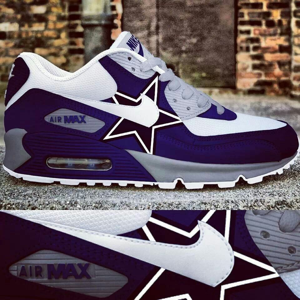 promo code dff21 ece97 Dallas Cowboys custom Nike Air Max