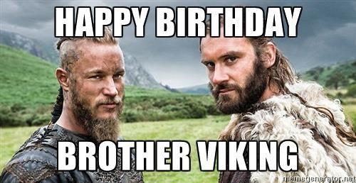 Викинги открытка с днем рождения