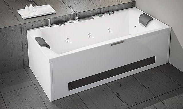 Baignoire balnéo Ligne Design Kiétude de Kinedo se veut épuré et - prix baignoire a porte