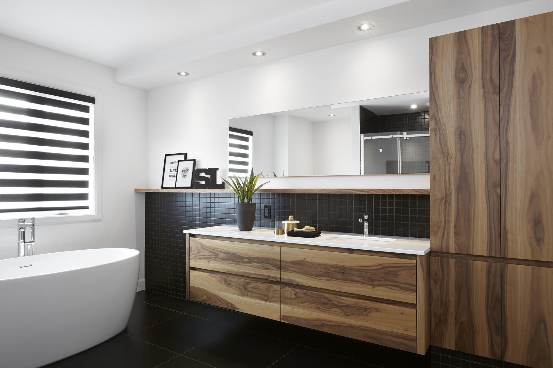 Salle de bain sign e gonthier cuisines et salles de bains salles de bains contemporaines en - Gonthier cuisine et salle de bain ...