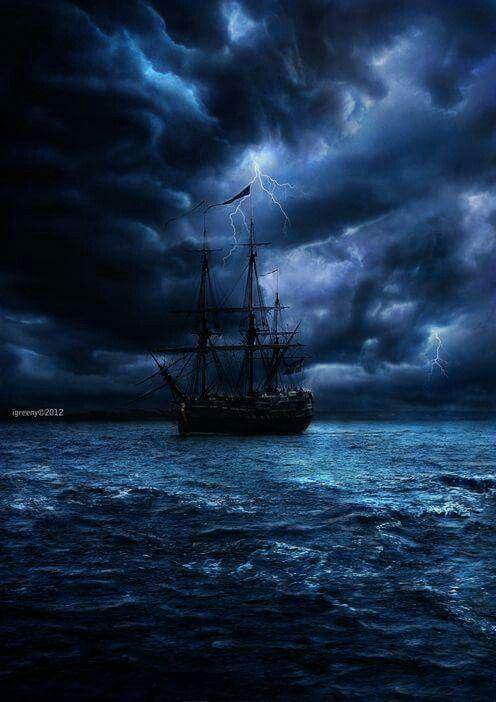Pin De Doris L Vandruff En Ships Arte De Barcos Tormenta En El Mar Paisaje Marino