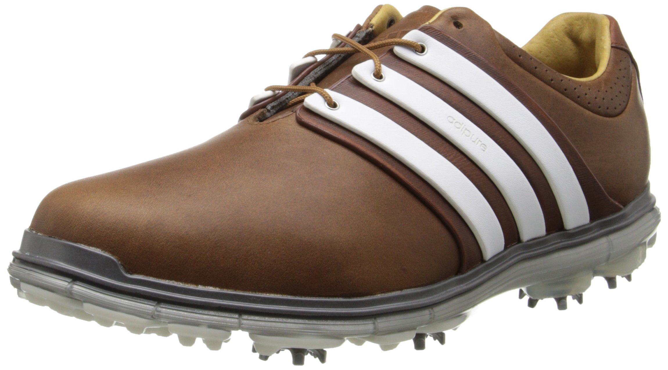 adidas Men s Pure 360 LTD Golf Shoe Tan Brown Tour White Silver Metallic