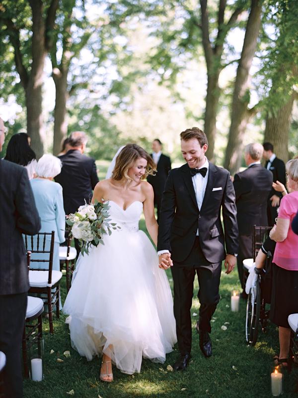 Elegant Outdoor White Wedding