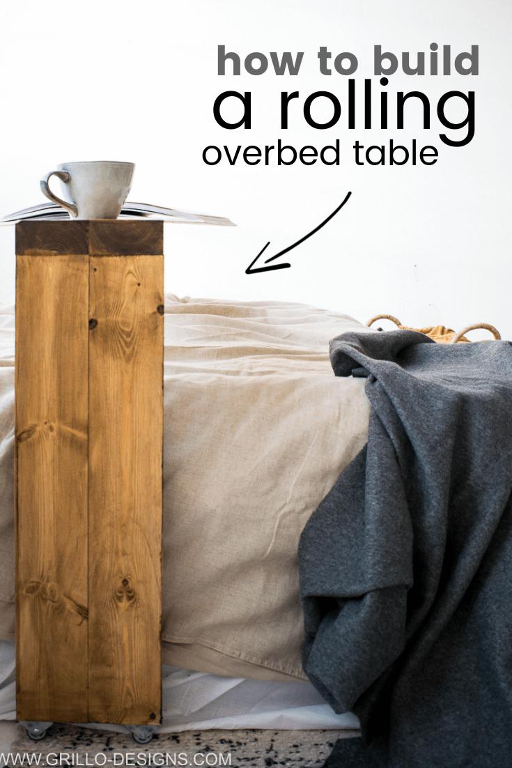Wie Man Einen Rollenden Uberbetttisch Baut In 2020 Betttisch Rolltisch Selbstgemachte Tische