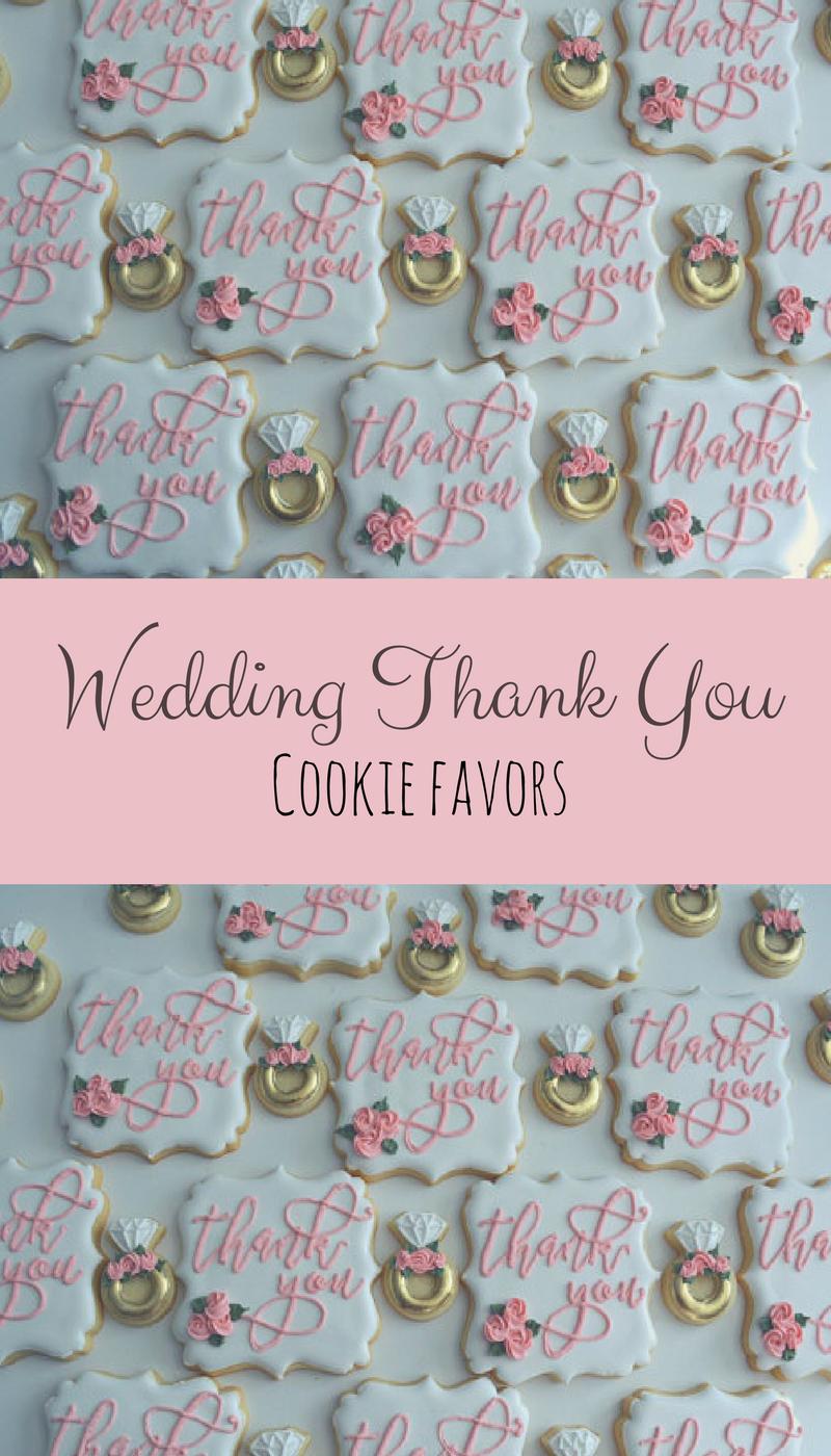One Dozen Thank you Sugar Cookies - Sugar Cookies - Wedding Cookies ...