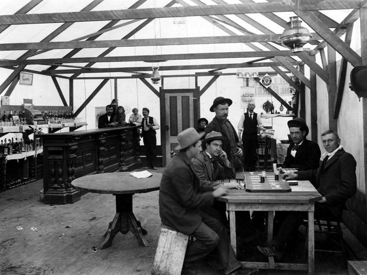 ca 1899 Randsburg Men in Saloon Photo California