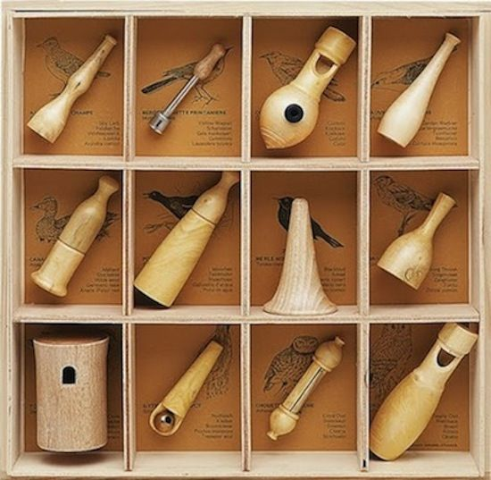 love the look of these wooden bird call whistles all together in a set