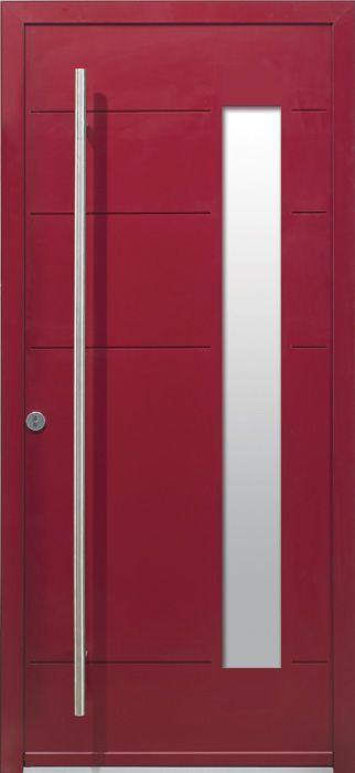 Porte d\u0027entrée colorée et design en aluminium desing porte allu 3