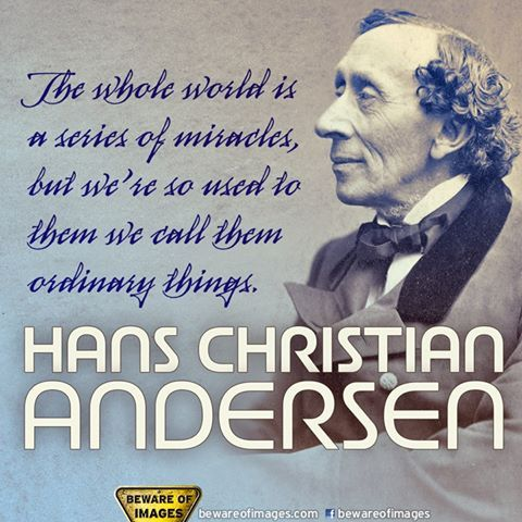 Photo: Today marked the birth of Danish author and poet H. C. Andersen (April 2, 1805 – August 4, 1875).  The Emperors New Clothes, The Tin Soldier, The Little Mermaid, The Princess and the Pea, Thumbelina, The Ugly Duckling... Itd be hard to imagine childhood without his fantastic fairy tales.