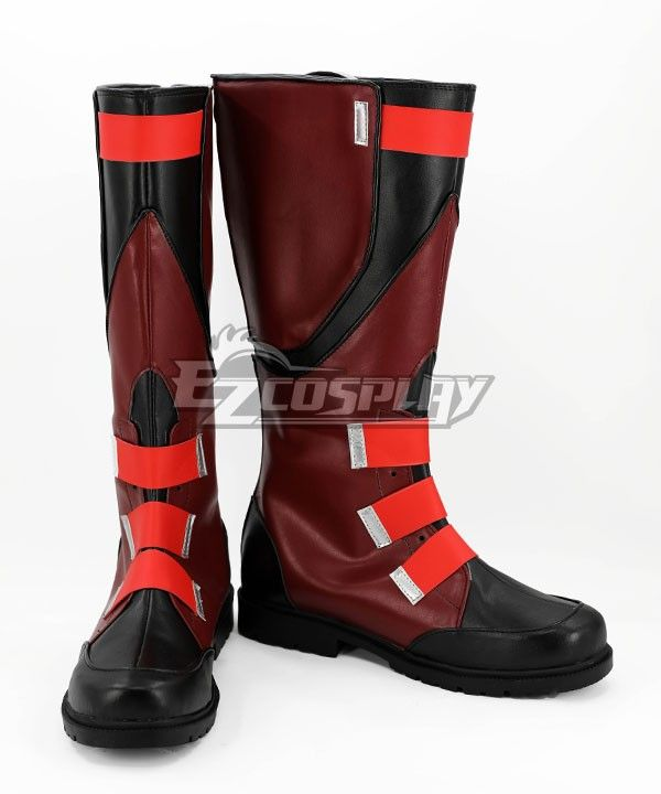 Marvel Captain America Steve Rogers Red Boots Shoes