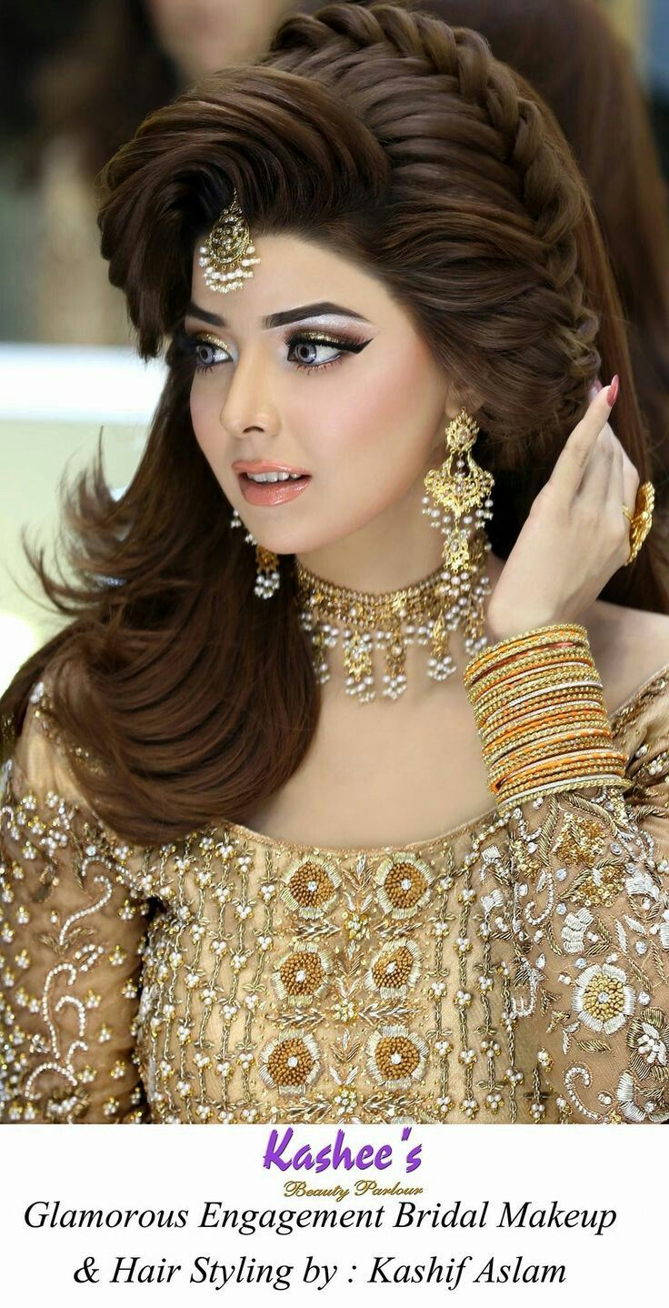 Kashee S Bridal Beautiful Wedding Makeup Engagement Hairstyles