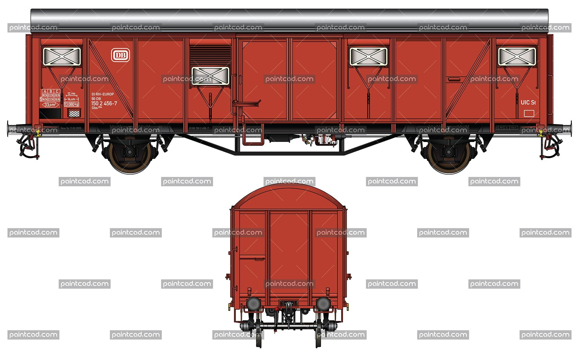 Gedeckter Guterwagen Covered Boxcar Type Gbs 254 Used By Db Box