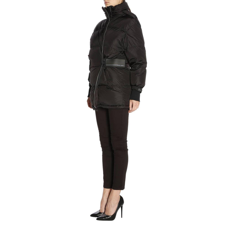 8c5f7d8418 Prada waterproof nylon down jacket with maxi logoed band in 2019 ...