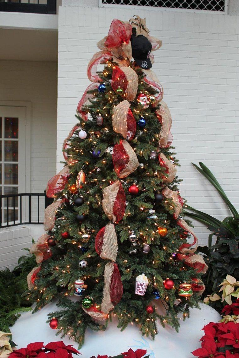 Adornos originales para el rbol de navidad red and - Arboles navidad decorados ...