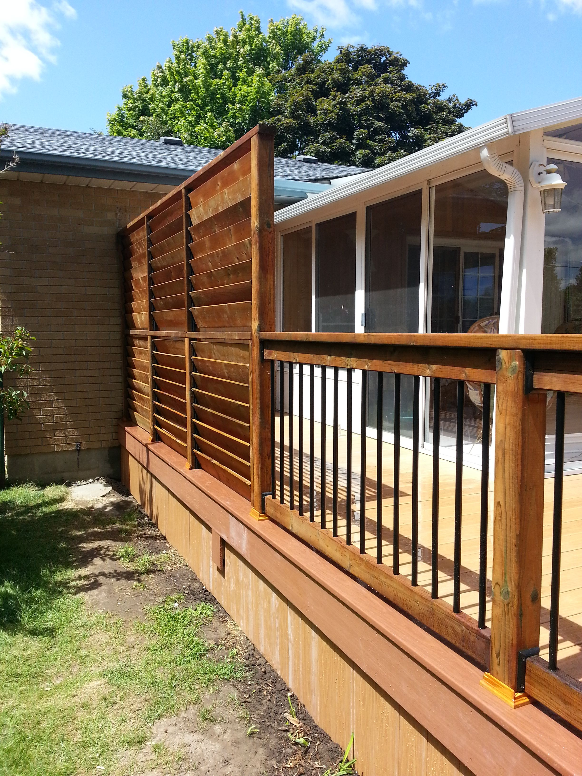 Flexfence creation by thommoknockers custom decks louver for Patio deck privacy screen