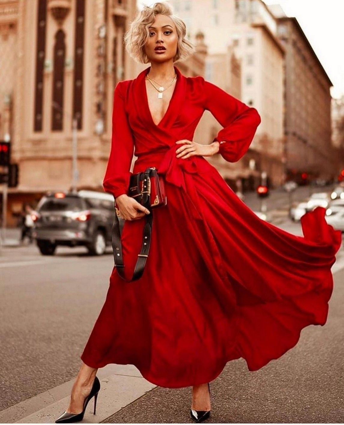 The 60 Uncanny Power Of The Woman Wearing In Red In 2020 Elegant Wrap Dress Fashion Dress Fashion Photography