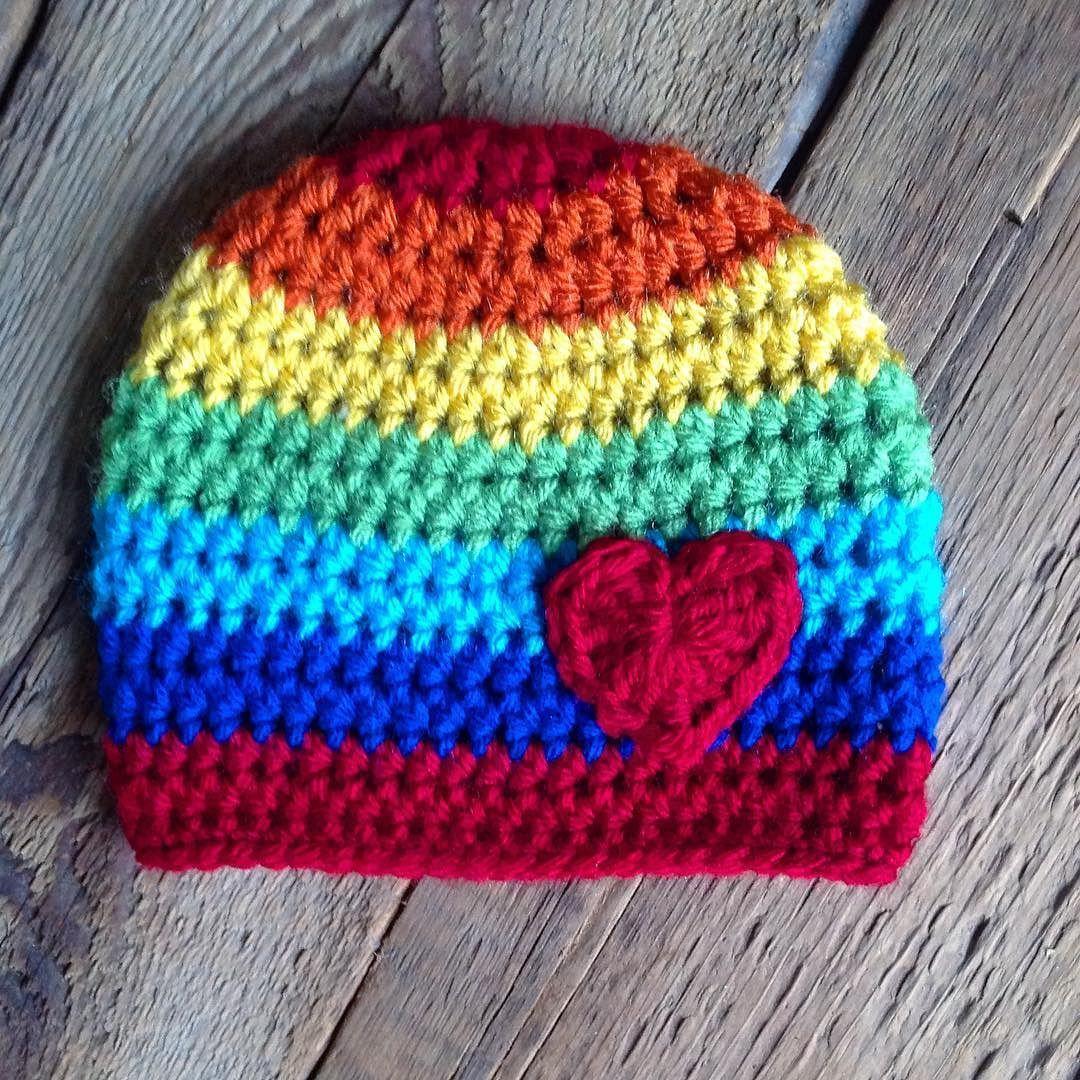 Newborn rainbow hat for a  rainbowbaby What is a rainbow baby