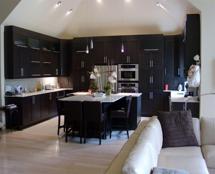 The Nest - Home Decorating Ideas, Recipes | Wood kitchen cabinets, Kitchen cabinet design, Dark ...