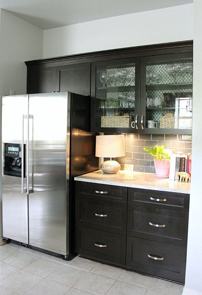 Best Champagne Glass Subway Tile Home Kitchens Espresso 640 x 480