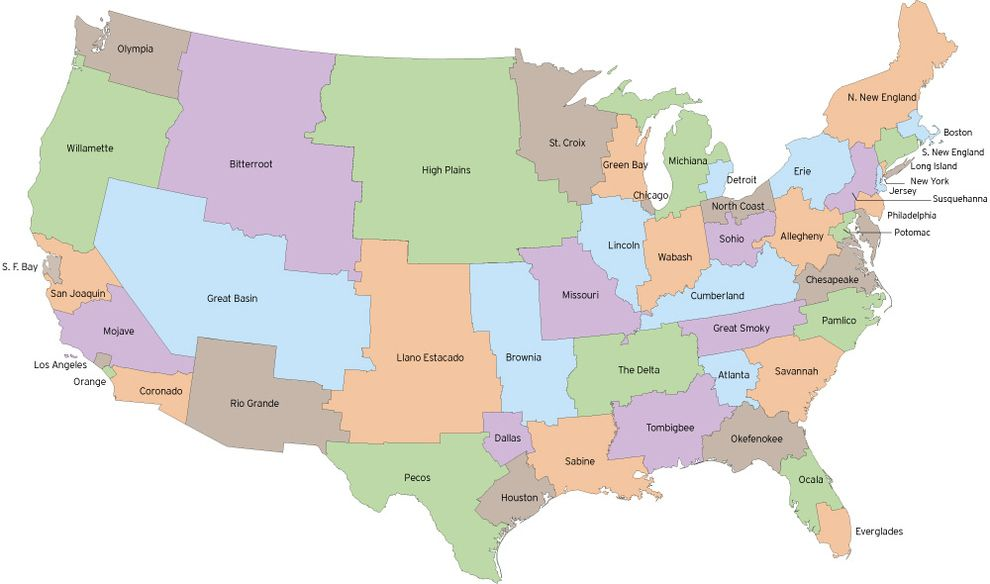 This is what the US might look like if state borders were