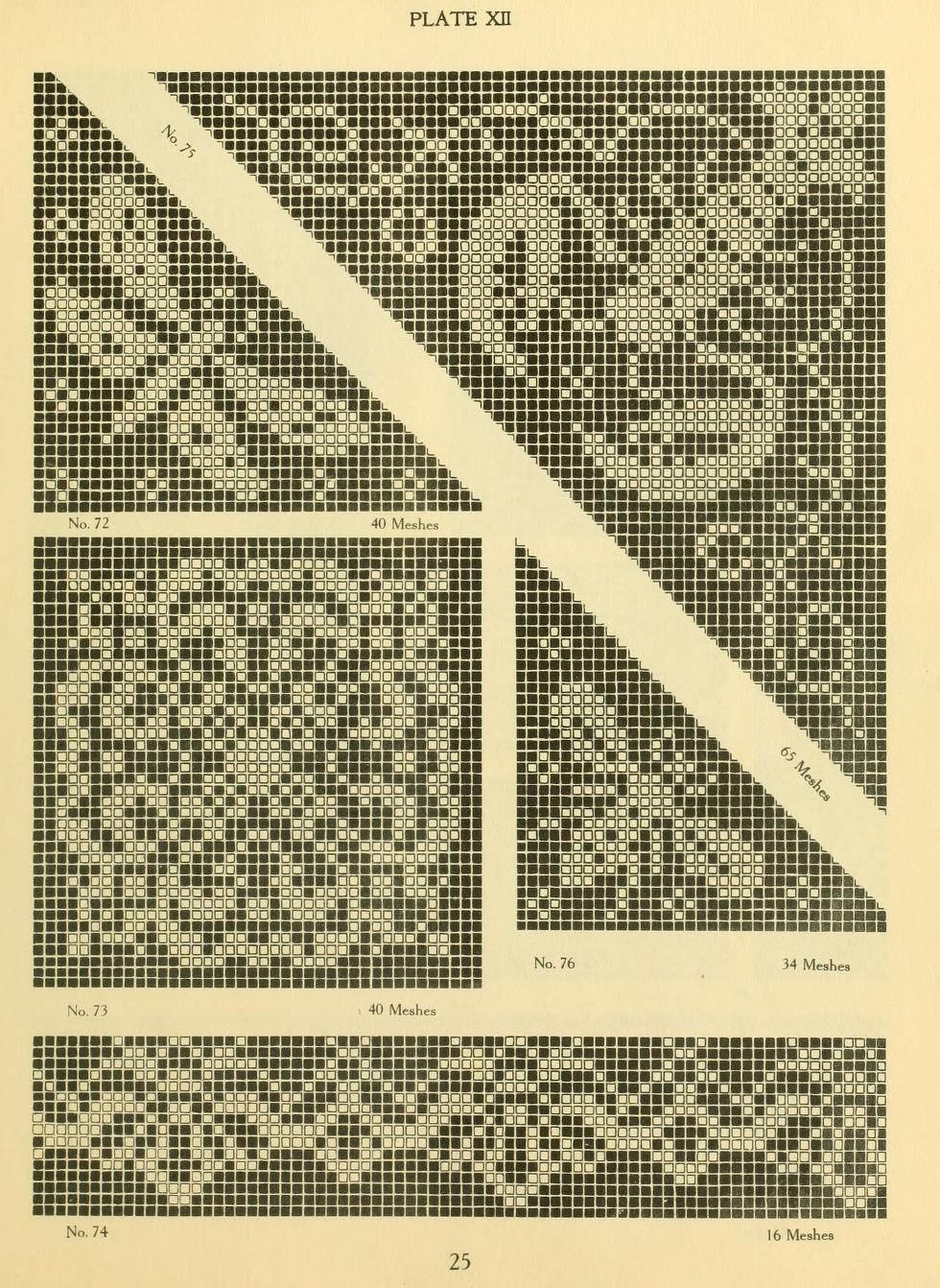 The new filet crochet book; original designs wh...