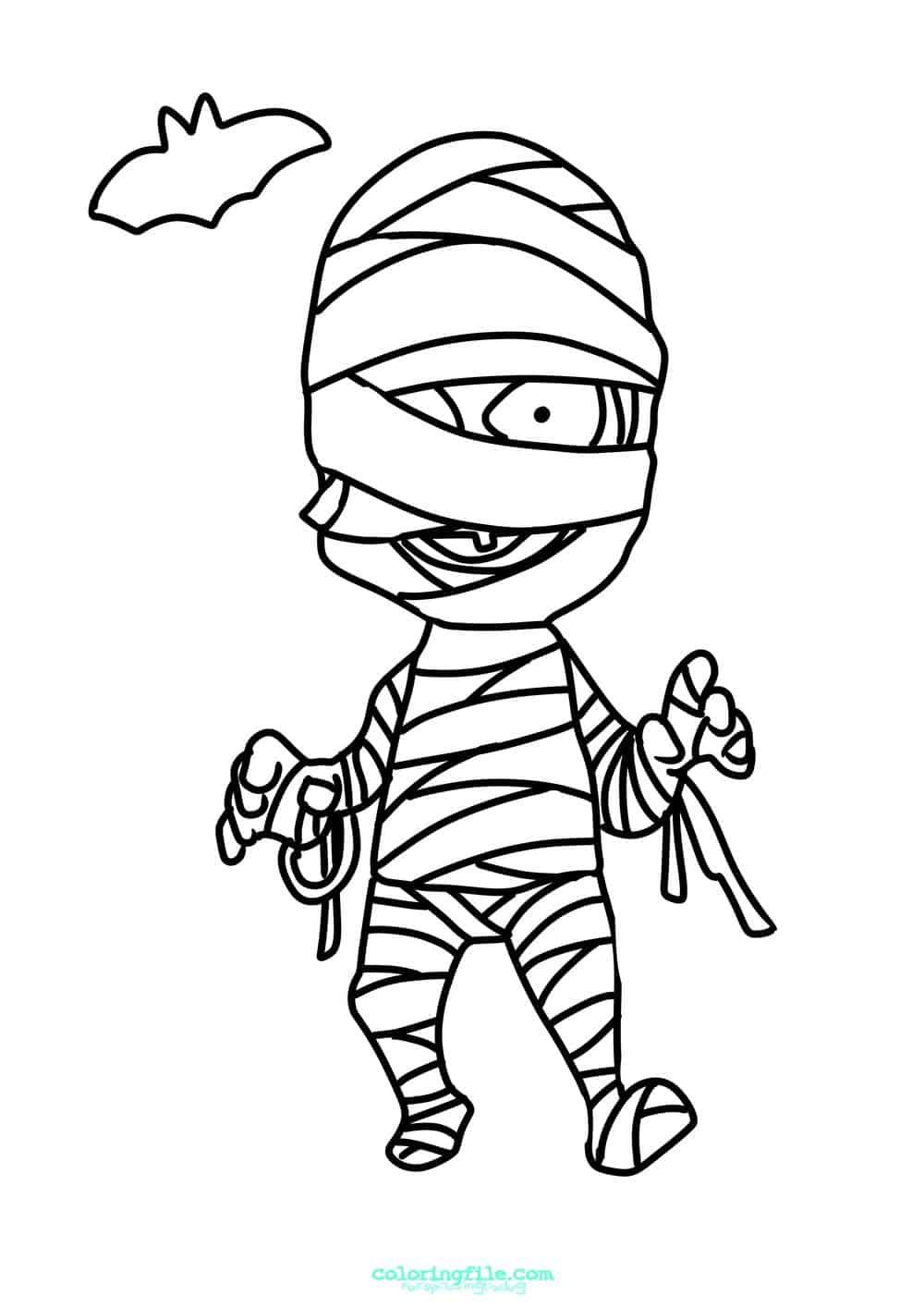 Halloween Mummy Boy Coloring Pages Halloween Coloring Pages Halloween Coloring Coloring Pages For Boys