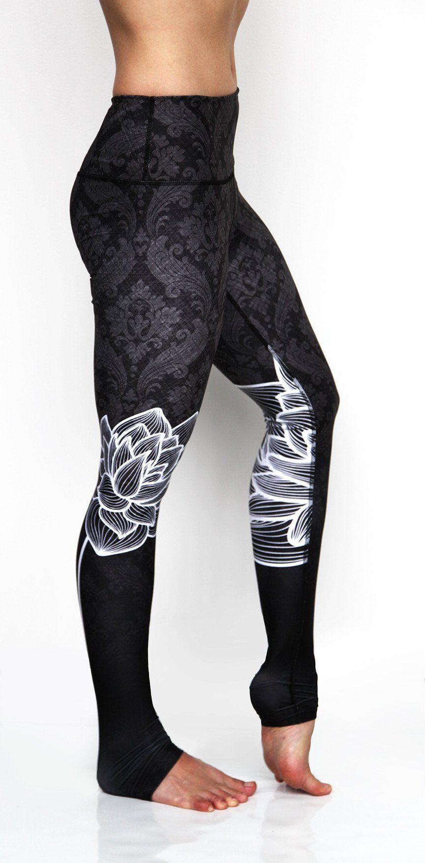d1636ecc71 Yoga Pants | Green Manufacturing | Eco Friendly | Ultra Comfortable Workout  Attire | Cute Athletic Clothing | Black Lotus | Premium Activewear
