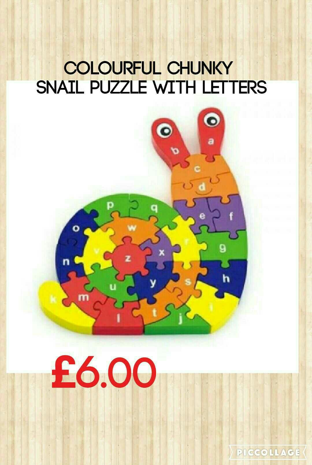 Wooden Snail puzzle with letters! Lettering, Scroll saw