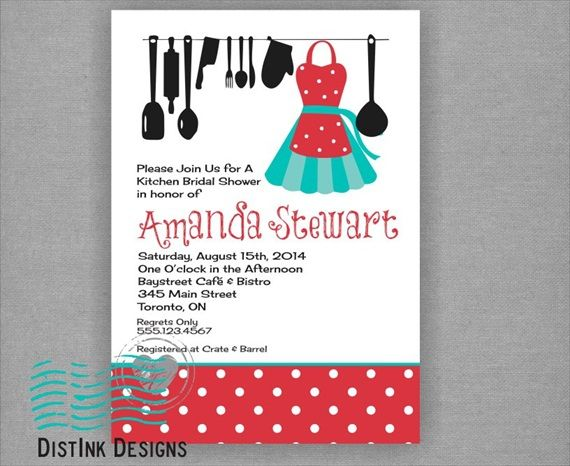 How To Pick A Better Bridal Shower Theme Kitchen Bridal Shower Bridal Shower Kitchen Shower Invitations