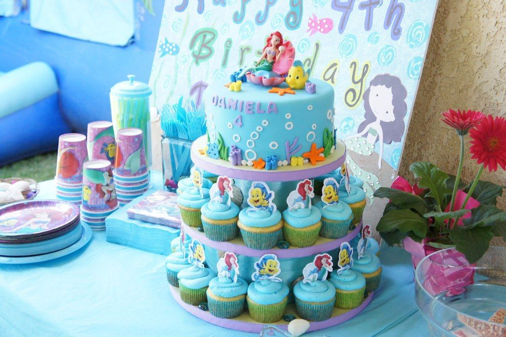 little mermaid cake topper Google Search Birthday Party Ideas